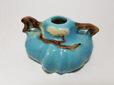 Vintage Roseville Pottery Blue Ming Tree #551 Candle Holder USA