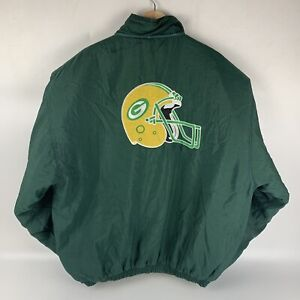 Vintage Green Bay Packers Starter Jacket Zip & Snap Up - Size XL