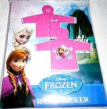 Disney Frozen RAIN SLICKER Vinyl Jacket Girls Size Small 2/3