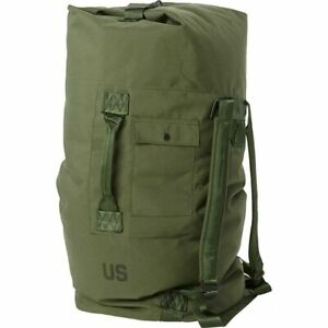 US Military Army DUFFLE/SEA BAG LUGGAGE Top Load 2 Strap OD NYLON GOOD Condition