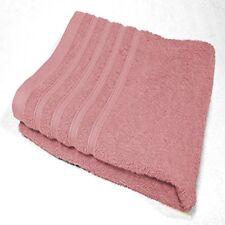 Serviettes, draps et gants de salle de bain rose coton 70x130 cm
