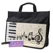 Oxford Cloth Music Note Satchel Tote Bag Student Handbag Grocery Shopper Bag