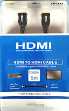 HDMI Cable 1080P Gold Plated HD High Speed Interface Multi Media Interface 5m