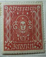 Austria 1922-24 Stamp 50 Kronen MNH Stamp StampBook1-13