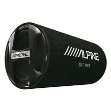 """Alpine SWT-12S4 1500W Max 300W RMS Single 12"""" Sealed Subwoofer Tube Enclosure"""