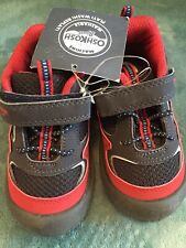 Boys Size 7 Oshkosh Sneakers Red And Black
