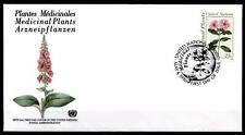 Heilpflanzen. Madagaskar-Immergrün. FDC. UNO NY 1990