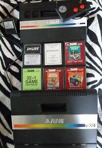 Alt Atari 2600 und Atari 7800  plus 6 Spiele Konvolut
