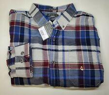 NEW Eddie Bauer Eddie's Favorite Flannel Shirt L/S Medium Classic Fit Plaid $60