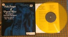 RARE VPI Cleaned Folk Songs Of Puerto Rico Asch Mankind Series Yellow Wax LP