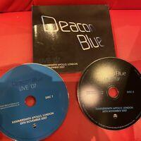Deacon Blue 2 CD set concertlive Hammersmith Apollo London 2007 rare live