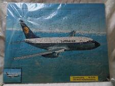 RAVENSBURGER Nr.15 190_altes Rahmenpuzzle_Düsenflugzeug Lufthansa_vollständig