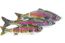 Wobbler 3er Top Set Regenbogen ideal für Raubfisch Barsch Hecht Waller Jerkbait