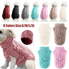 Small Pet Dog Clothes Coat Winter Warm Puppy Knitted Jumper Sweater S/M/L/XL Hot