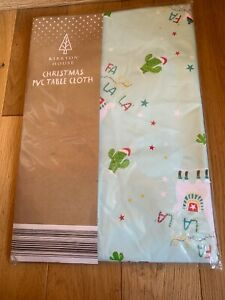 Llama PVC Christmas table cloth
