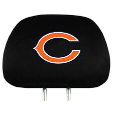Pair of Chicago Bears Head Rest Covers - NEW! Truck Car Auto Headrests