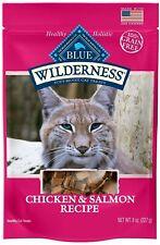 2 pk Blue Buffalo Wilderness CHICKEN/SALMON Cat Treat 2 oz (2 bags exp 09/20+)