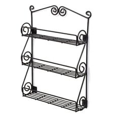 NEW Hang Wall Mount Scroll Spices Rack Kitchen Bath Cabinet Pantry Door Drawer