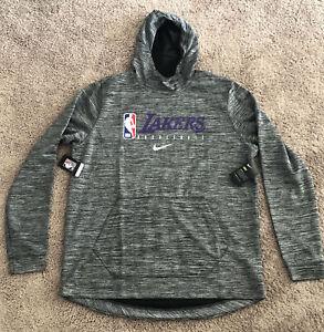 Nike LA Lakers Authentics Team Issued Gray Sweatshirt AV1359-032 Mens Size XLT