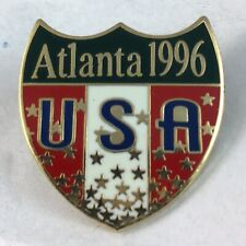 Atlanta 1996 Olympic Games Shield Badge Pin - NEW - Never Used. AUTHENTIC