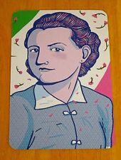 GOODNIGHT STORIES FOR REBEL GIRLS POSTCARD ~ CLAUDIA RUGGERINI - PARTISAN, ITALY