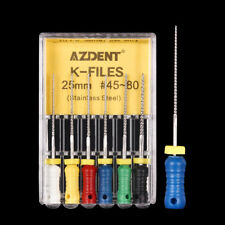 10x AZDENT Dental Reamers Stainless Steel Root Canal Hand Use Files 15#-40# 25mm
