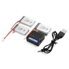 3pcs 3.7V 800mAh Lipo Battery + Charger For Syma X5C X5SW X5SC Quadcopter BC589
