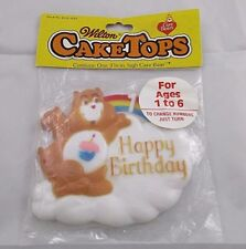 Sealed Old Stock Care Bears Happy Birthday Cake Topper Ages 1-6 by Wilton