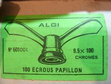 2 anciens Ecrous Papillon Velo Ancien Set Wing Nuts Brass 9.5 mm vintage ALGI