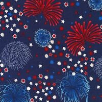 Americana Fireworks Patriots Cotton Fabric by Robert Kaufman