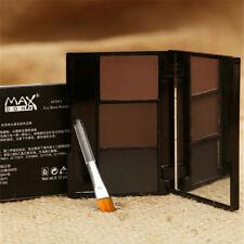 1Set 3 Colors Girl Ultimate Brow Kit Eyebrow Make Up Wax Powder Brush Cosmetics