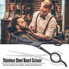 Beard Scissor Stainless Mustache Scissor Black Shaving Shear Beard Trimmer Z7S2