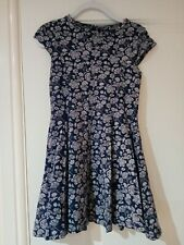 Dark blue marks and spencer size 5-6 dress girls xmas party holiday gift summer