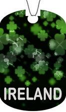 IRELAND Flag Adult Dog Car Tag Chain Necklace SHAMROCK Version
