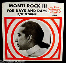 MONTI ROCK III-For Days And Days-Rare Radio Station Picture Sleeve-Info On Back