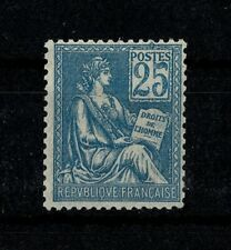 """FRANCE STAMP TIMBRE YVERT 114 """" MOUCHON 25c BLEU TYPE I 1900 """" NEUF xx LUXE V929"""