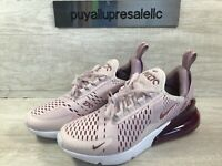 Women's Nike Air Max 270 Sneakers Barely Rose/Vintage Wine AH6789-601 Size 6.5