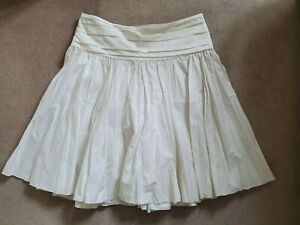 MOSCHINO CHEAP & CHIC Ladies Cotton-Mix Pleated Skirt In Cream Size IT 46/UK 14