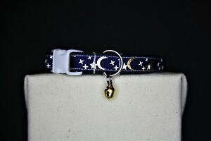 CAT COLLAR | HANDMADE CAT COLLAR | Handmade Cat Collar | Moon | Stars | Mystical