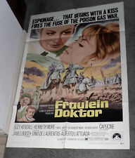 FRAULEIN DOKTOR original 1969 27x41 one sheet movie poster SUZY KENDALL/CAPUCINE