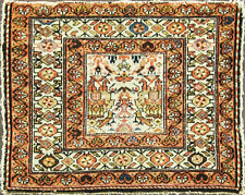 """25"""" x 31"""" Charming Antique Persian Melayer bag face Oriental Rug, Like Painting."""