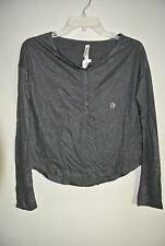 Aeropostale long sleeve black shiny sparkle long sleeve T shirt top Size S New