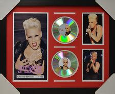 PINK P!NK SIGNED MEMORABILIA FRAMED 2 CD LIMITED EDITION V2 2016 #D