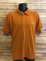 The North Face Polo Shirt Size Large Mens Orange Short Sleeve S/S Golf  Casual