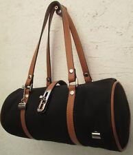 -AUTHENTIQUE sac à main type tube LA BAGAGERIE  toile et cuir   TBEG bag