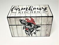 Handmade Wood Farmhouse Recipe Box