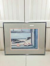 Vintage Arlene Morgan Limited Edition Print Corpus Christi Texas Seascape Beach