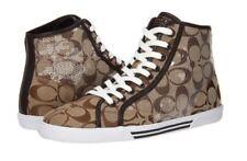 NIB Coach Kandice Signature Fashion Sneakers with Sequins A2545 Khaki Size 7 M