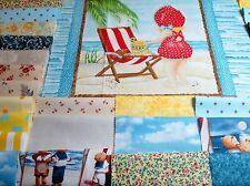 """5"""" """"BEACH BABIES""""  - Pre-cut QUILT KIT-Baby or Child 39"""" x 43""""~ Kit #A"""