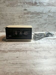 Vintage Copal Mid Century Modern Flip Alarm Clock Model RP-170 Tested & Working
